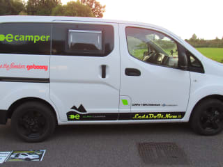 Ecamper – E-camper Nissan ENV200 Elektrische compacte buscamper voor 2 personen