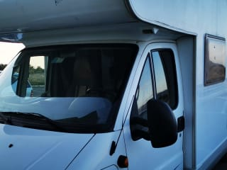Camper with a double bed and two singles to get around Sardinia