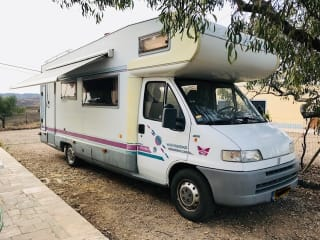 Alcove FIAT / Weinsberg 4 pers camper with air conditioning for road trip Portugal