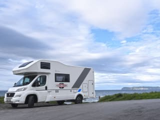 Finn McCool – Finn MacCool – Motorhome – Sleeps 7 – Travels 7