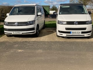 Daisy – VW 4 berth camper with awning and d/away tent ALL INCLUSIVE PRICE
