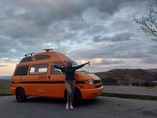 Cynthia – Cynthia our outrageously Orange VW camper