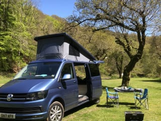 Dora – Volkswagon T6 Highline LWB Professional Conversion with pop top roof