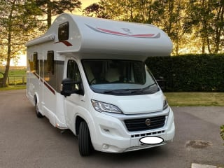 2021 Rimor 7 berth motorhome with fixed double and rear bunks