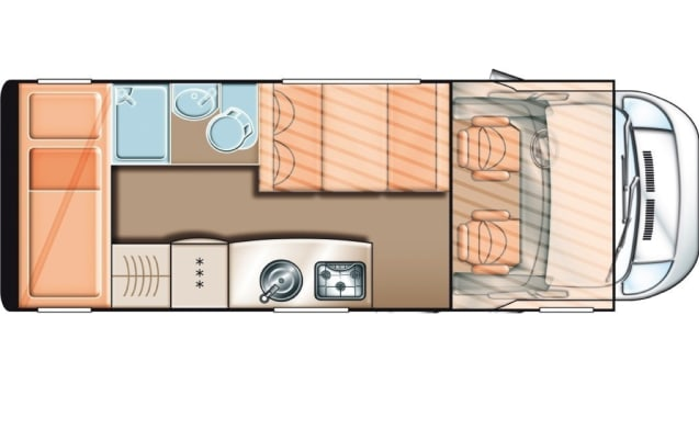 Camper for 6 people with bunk bed / CF6
