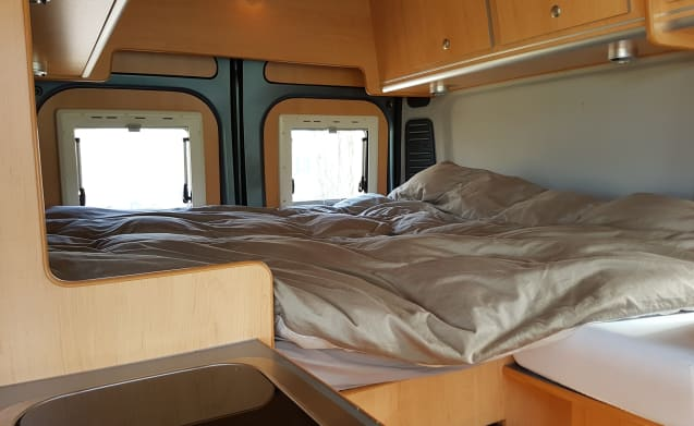 Super driving and comfortable compact camper: a bus camper.