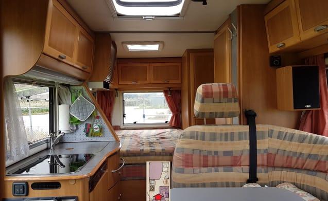 Tramp – Tramp - Fine, agile & spacious (2 sleeping & 4 seats)