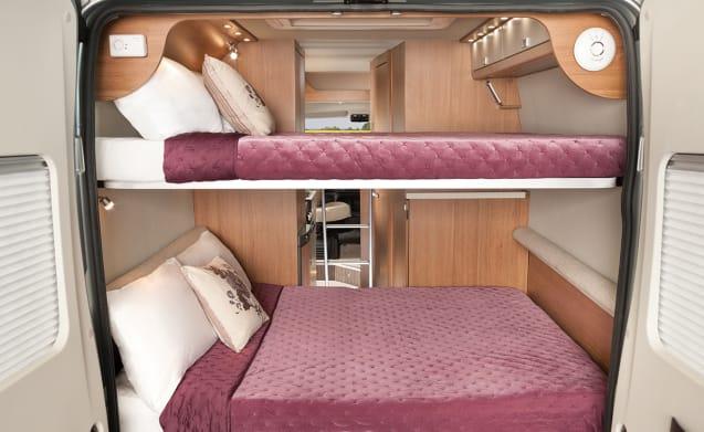Vehicle 2 – Newly styled 2019 reg Tribute 669 campervan (V1)