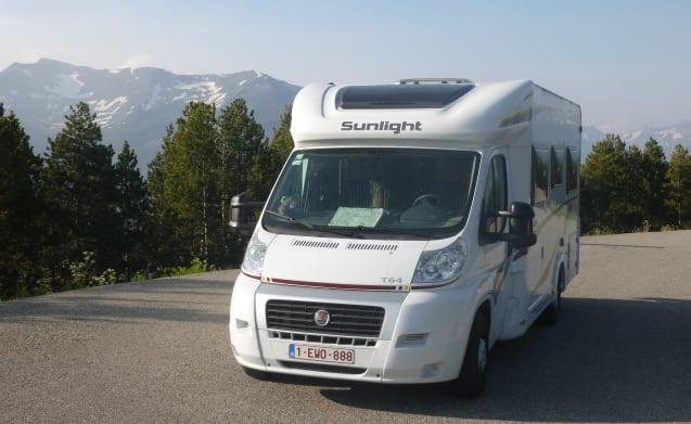FÜR Freude RENT Freiheit mit Mobil Sunlight T 64