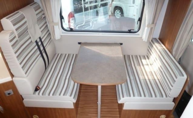 Ruime camper voor 4 personen, frans bed / BF4