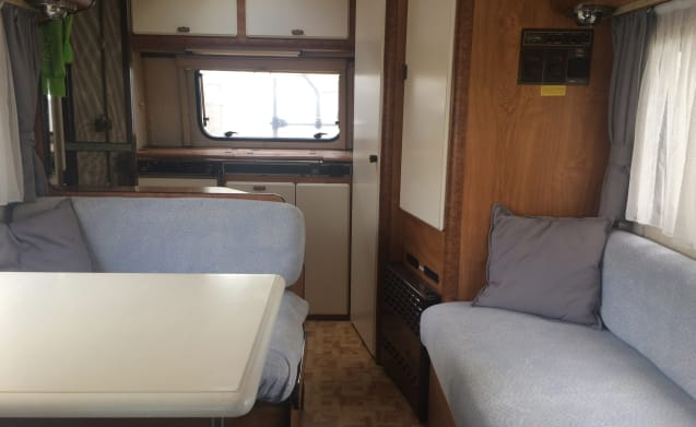 Brum – Pack, drive away and enjoy! Hymer Alcove with 5 berths FOR RENT!