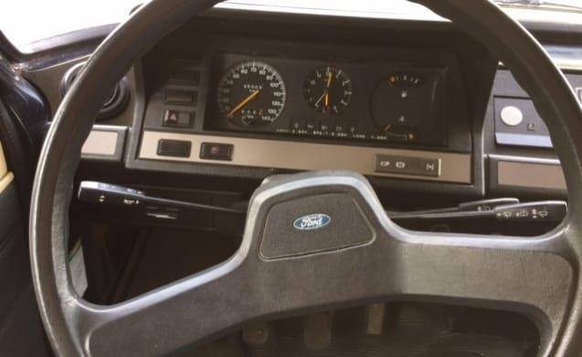 Leuke Retro jaren '80 Ford transit MK2 camper