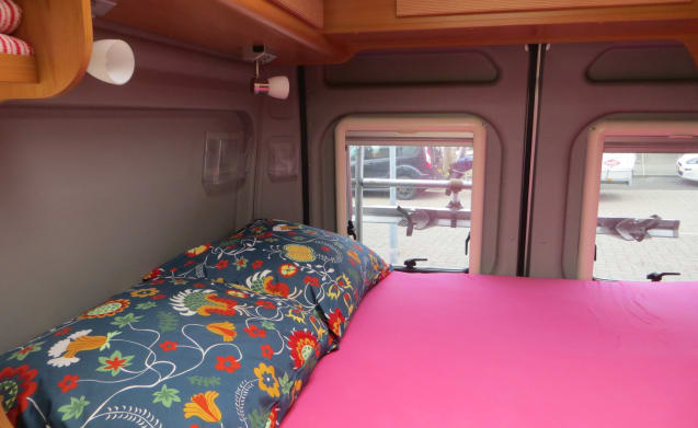 Beautiful compact bus camper for two people
