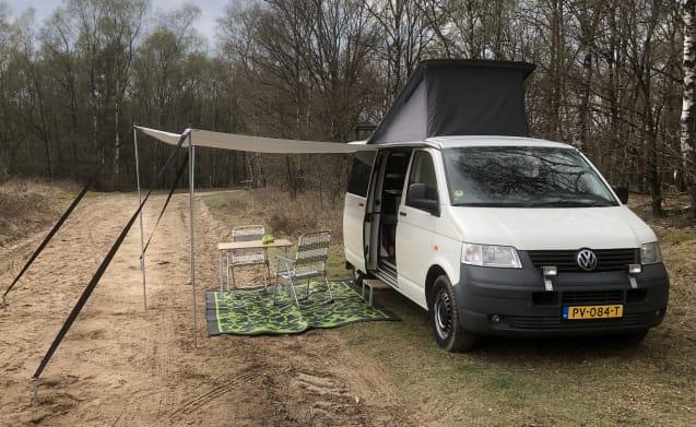 VW Transporter T5 (4x4) per il campeggiatore primitivo