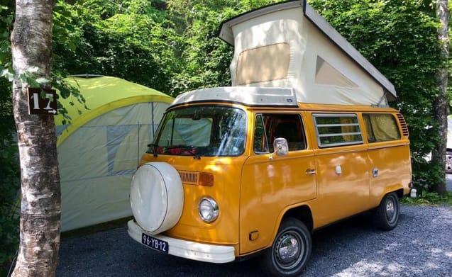 mellow yellow – Groovy hippie van Volkswagen T2 mellow yellow