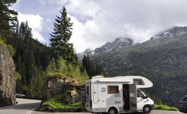 On an adventure with the 4 person Knaus family camper