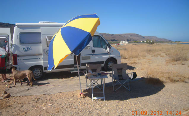 Compact bus camper with many functionalities
