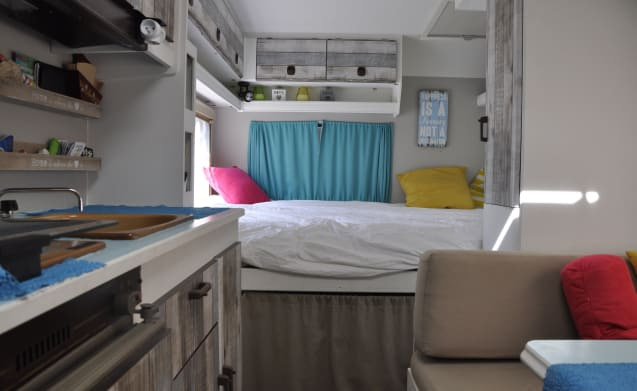 Knusse hut – Charme-camper for the whole family, fully motivated!