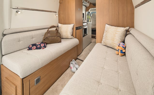 Vehicle 4 – 2-4 berth 2018 model deceptively spacious campervan (V2)