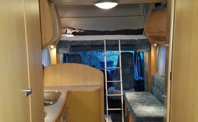 Spacious family camper.