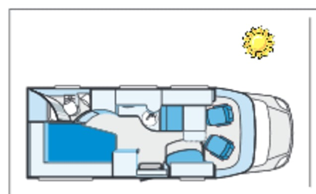 Sunny – Very complete, 4 person Knaus Sun Ti
