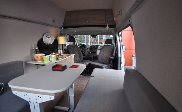Type 3B – Stoere Mercedes Vito met een groot bed