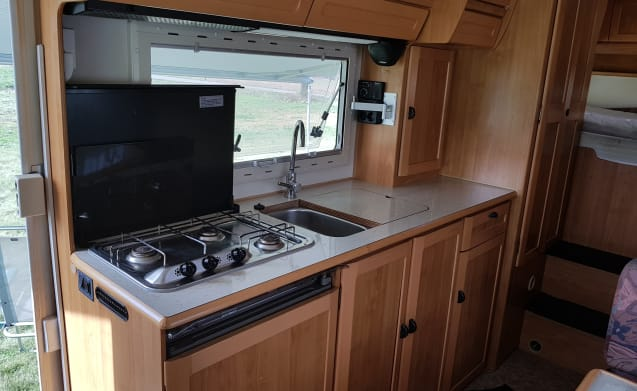 Fancy an adventure? Rent our 6-person family camper!