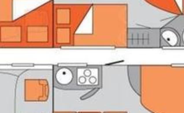 A-type – Camper automatic bj 2018 2-4 persons fixed bed