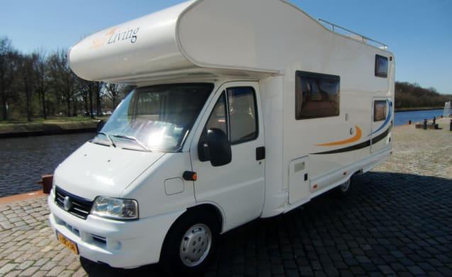 Sunroller – 6 a 7 Persoons, Fiat Ducato 2.8 Diesel, KM FREE, 75,221 KM walked