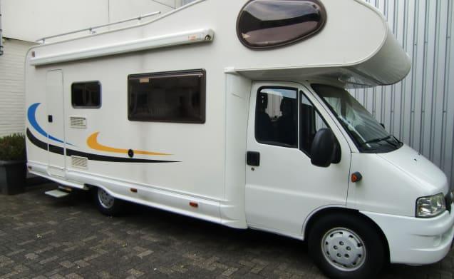 Sunroller – 6 a 7 Persoons,  Fiat Ducato 2.8 Diesel, KM VRIJ, 75.221 KM gelopen