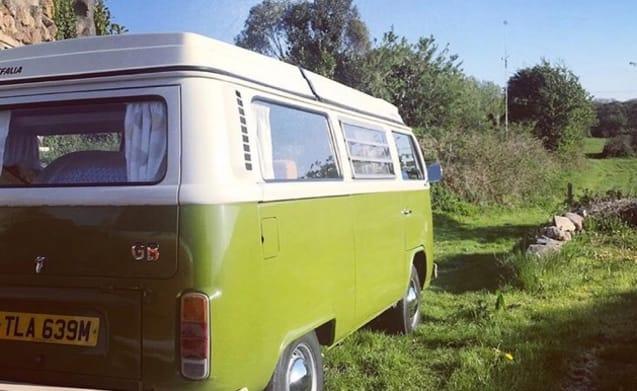 Olive - Klassieke VW Camper Van huren in Cornwall