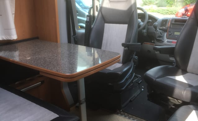 Luxury sporty camper with all comforts and comfort
