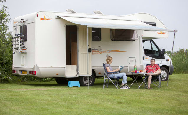 Rimor Motorhome hire and the dog can come along