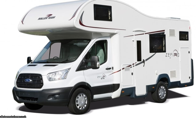 Ideal family motorhome Zefiro 675 1-6 berth (Edinburgh)