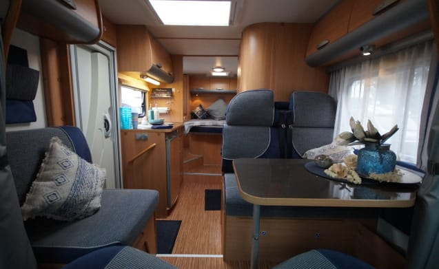 Adriaan, an Adria Sport S 577SP with queen bed!