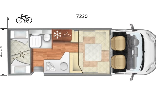 ADFUN – RECENT family Mobilhome for 7 people