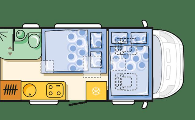 Fijne & ruime Adria camper (6 pers.) met garage, vast bed en inventaris!