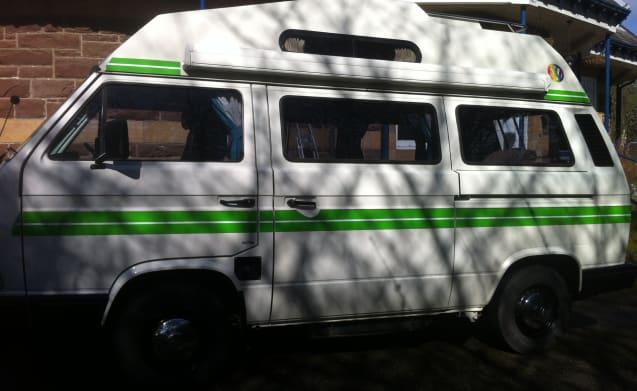 Green Stripe – Classic VW Camper for Hire