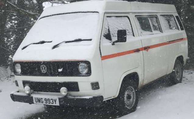 classic vw t25 poptop campervan