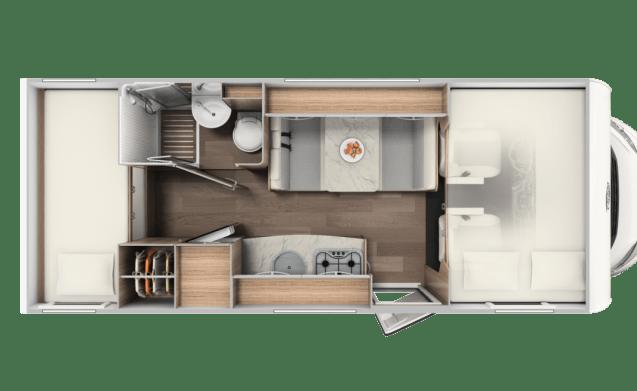 Mobielhuis – NEW 2019! Spacious Carado A361 for 4 people
