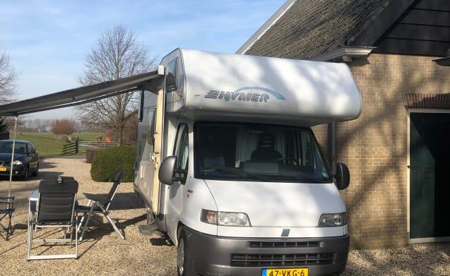 Hymer Swing CS 524 – Nette en volledige Hymer camper (6 personen) (Wijngaarden)