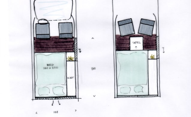 Passie. Stijl. Avontuur. – José: compact comfort with hotel bed --- UNIQUE (050)