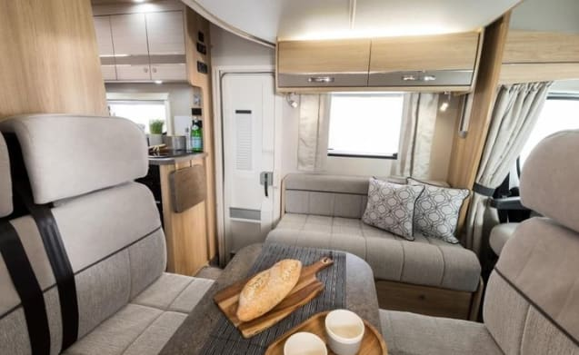 Peggy – Elddis Autoquest 196. New 2019 luxury 6 berth motorhome. Known as ''Peggy''