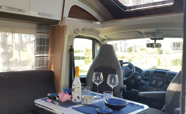 Adriaantje – LUXURY & NEW Camper with QUEENSBED 4 pers