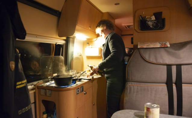 On an adventure in a spacious bus camper