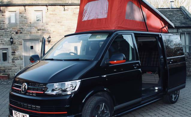 """Wilber – """"Wilber"""" the VW T6 GTi Pop-Top Camper van, Turns heads wherever he goes!"""