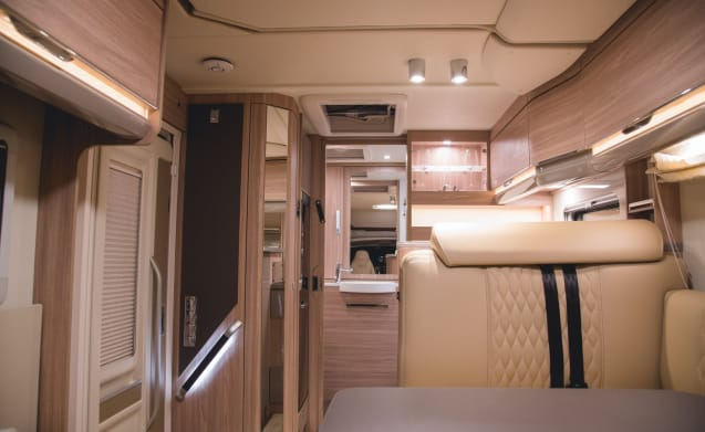 Lamorna, an executive level, luxury motorhome sleeping 4