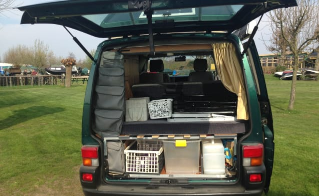 Very handy and cozy camper van for 4 people.