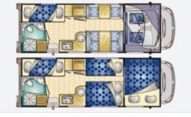Spacious family camper with 7 sleeping places!
