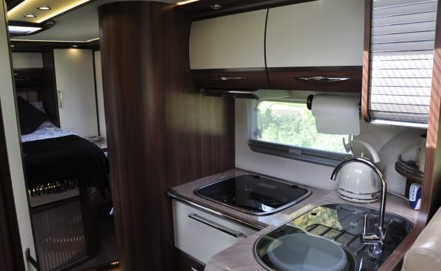 Tour in luxury with this iconic Burstner Elegance 800i